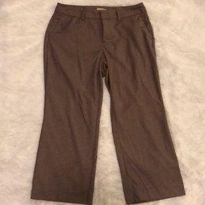 Tan cropped dress pants